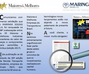 PRÊMIO MAIORES E MELHORES 2017